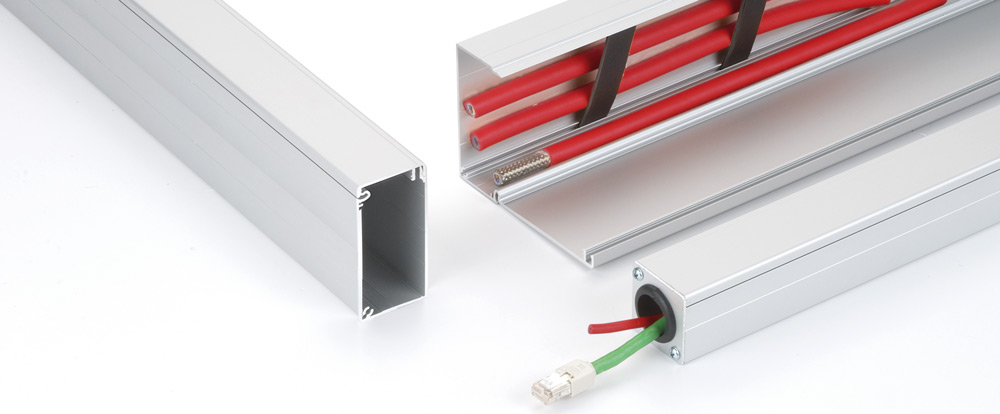 The aluminium cable channel from RK Rose+Krieger has many useful features that ensure easy handling