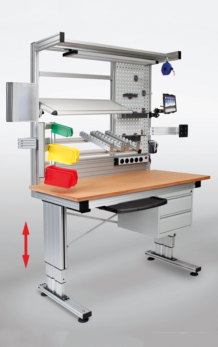 RK work tables can be customised to meet individual requirements and optimally tailored to the respective workflows.