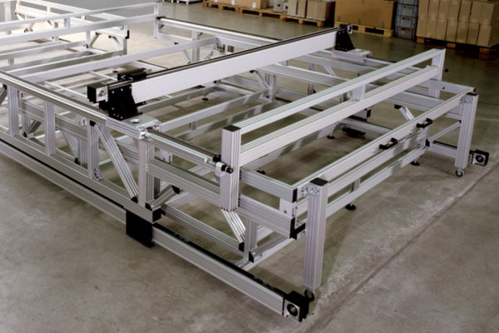 BLOCAN aluminium profile system, linear timing-belt/rack units as system solution