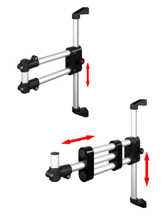 Height adjustable monitor support arms